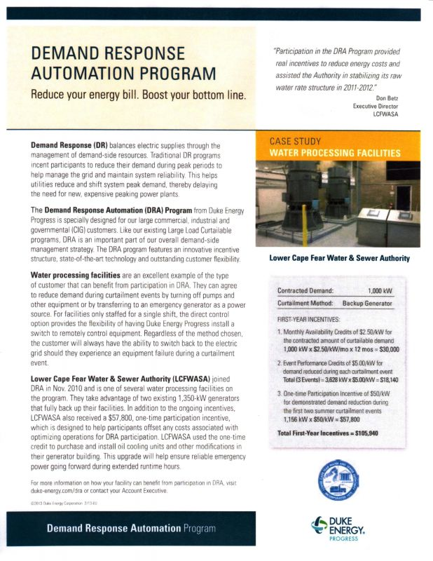 Demand Response Automation Program