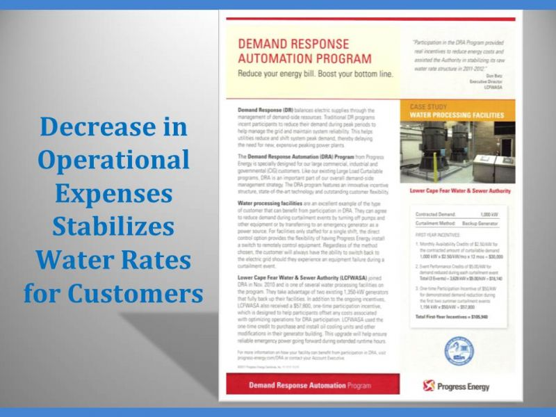 Decrease in Operational Expenses